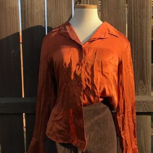 Vintage Burnt Orange 90s style Button Down